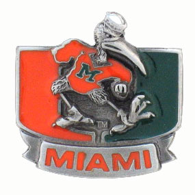 Miami Hurricanes College Team Logo Pin - This Miami Hurricanes College Team Logo Pin is finely sculpted with hand enameled detail. Check out our entire line of  collegiate merchandise! Check out our entire line of  licensed sports merchandise! Thank you for shopping with CrazedOutSports.com