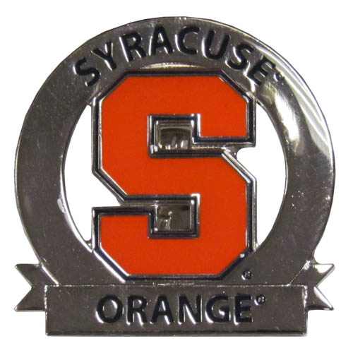 Syracuse Glossy Pin - Our glossy collegiate pins are a great way to show of your school pride. Each pin features a hand enameled finish with a hard glossy coating. Thank you for shopping with CrazedOutSports.com