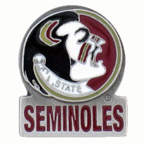 College Team Logo Pin - Florida State Seminoles - Our Florida State Seminoles college pins are finely sculpted with hand enameled detail. Check out our entire line of  collegiate merchandise! Alabama Crimson Tide. Check out our entire line of  licensed sports merchandise! Thank you for shopping with CrazedOutSports.com