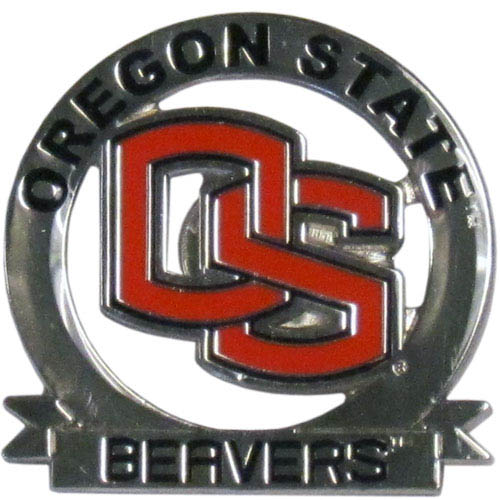 Oregon St. Glossy Pin - Our glossy collegiate pins are a great way to show of your school pride. Each pin features a hand enameled finish with a hard glossy coating. Thank you for shopping with CrazedOutSports.com