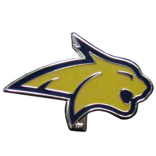 Montana State Bobcats Pin - Our glossy collegiate pins are a great way to show of your school pride. Each pin features a hand enameled finish with a hard glossy coating. Thank you for shopping with CrazedOutSports.com