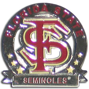 College Pin - Florida St Seminoles - Our glossy collegiate pins are a great way to show of your Florida State Seminoles pride. Each pin features a hand enameled finish with a hard glossy coating. Thank you for shopping with CrazedOutSports.com