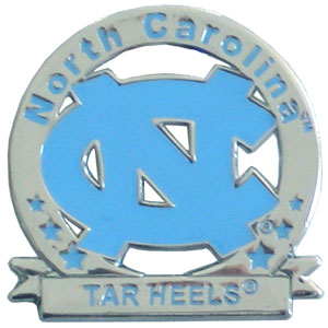 Glossy College Pin - N. Carolina Tar Heels - Our glossy collegiate pins are a great way to show of your school pride. Each pin features a hand enameled finish with a hard glossy coating. Thank you for shopping with CrazedOutSports.com