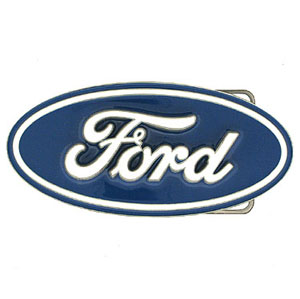 Ford Logo Belt Buckle - Officially licensed Ford belt buckle featuring the Ford oval in a hand enameled finish.