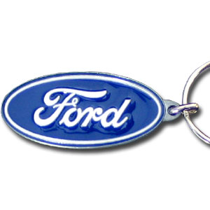 Ford Oval Key Ring - This intricately carved key ring is hand enameled featuring the traditional Ford oval logo. Check out our entire line of  Ford merchandise! Check out our entire line of  Ford merchandise!