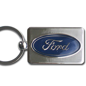 Ford Oval Chrome Key Chain - Officially license Ford Oval chrome key chain with the Ford logo.