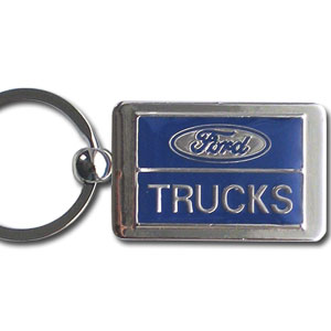 Ford Truck Chrome Key Chain - Officially license chrome key chain with the Ford Truck logo.