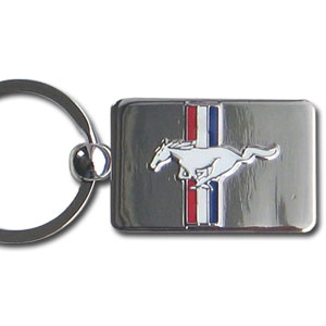 Mustang Chrome Key Chain - Officially license chrome key chain with the Mustang logo.