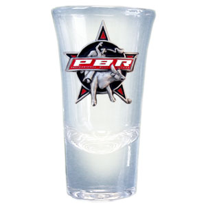 Flared Shooter - PBR Collector Shot glass - Support the PBR with the officially licensed flared shooter. Each glass holds 1.5 oz of liquid and has a detailed logo with enamel color fill.
