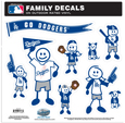 Los Angeles Dodgers Family Decal Set Large