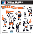 Miami Marlins Family Decal Set Large