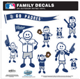San Diego Padres Family Decal Set Large