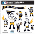 Pittsburgh Pirates Family Decal Set Large