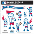 Texas Rangers Family Decal Set Large