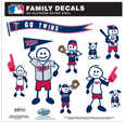 Minnesota Twins Family Decal Set Large