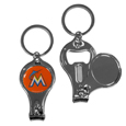 Miami Marlins Nail Care/Bottle Opener Key Chain