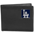 Los Angeles Dodgers Leather Bi-fold Wallet Packaged in Gift Box
