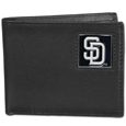 San Diego Padres Leather Bi-fold Wallet Packaged in Gift Box