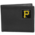 Pittsburgh Pirates Leather Bi-fold Wallet Packaged in Gift Box