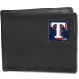 Texas Rangers Leather Bi-fold Wallet Packaged in Gift Box
