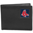 Boston Red Sox Leather Bi-fold Wallet Packaged in Gift Box