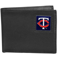 Minnesota Twins Leather Bi-fold Wallet Packaged in Gift Box