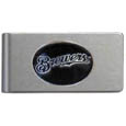 Milwaukee Brewers Brushed Metal Money Clip