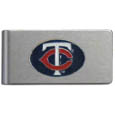 Minnesota Twins Brushed Metal Money Clip