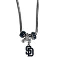 San Diego Padres Euro Bead Necklace