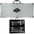 Milwaukee Brewers 8 pc Stainless Steel BBQ Set w/Metal Case