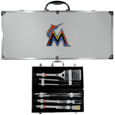 Miami Marlins 8 pc Stainless Steel BBQ Set w/Metal Case