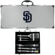 San Diego Padres 8 pc Stainless Steel BBQ Set w/Metal Case