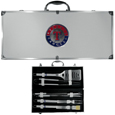 Texas Rangers 8 pc Stainless Steel BBQ Set w/Metal Case