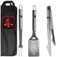 Boston Red Sox 3 pc Stainless Steel BBQ Set with Bag