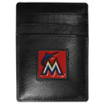 Miami Marlins Leather Money Clip/Cardholder Packaged in Gift Box