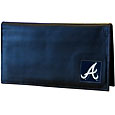 Atlanta Braves Deluxe Leather Checkbook Cover