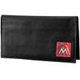 Miami Marlins Deluxe Leather Checkbook Cover