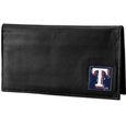 Texas Rangers Deluxe Leather Checkbook Cover