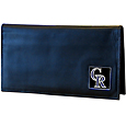 Colorado Rockies Deluxe Leather Checkbook Cover