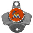 Miami Marlins Wall Mounted Bottle Opener
