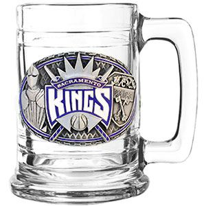 NBA Colonial Tankard - Sacramento Kings - Our NBA Sacramento Kings colonial tankard has a uniquely sculpted and enameled emblem that depicts the team and community. 15 oz capacity. Check out our entire line of  NBA merchandise!
