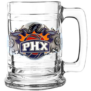 NBA Colonial Tankard - Phoenix Suns - This NBA Phoenix Suns colonial tankard has a uniquely sculpted and enameled emblem that depicts the team and community. 15 oz capacity. Check out our entire line of  NBA merchandise!