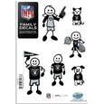 Oakland Raiders Family Decal Set Small