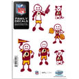 Washington Redskins Family Decal Set Small