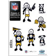 Pittsburgh Steelers Family Decal Set Small