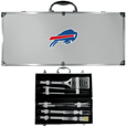 Buffalo Bills 8 pc Stainless Steel BBQ Set w/Metal Case