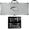Denver Broncos 8 pc Stainless Steel BBQ Set w/Metal Case