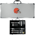 Cleveland Browns 8 pc Stainless Steel BBQ Set w/Metal Case