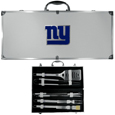New York Giants 8 pc Stainless Steel BBQ Set w/Metal Case