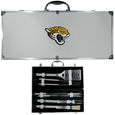 Jacksonville Jaguars 8 pc Stainless Steel BBQ Set w/Metal Case